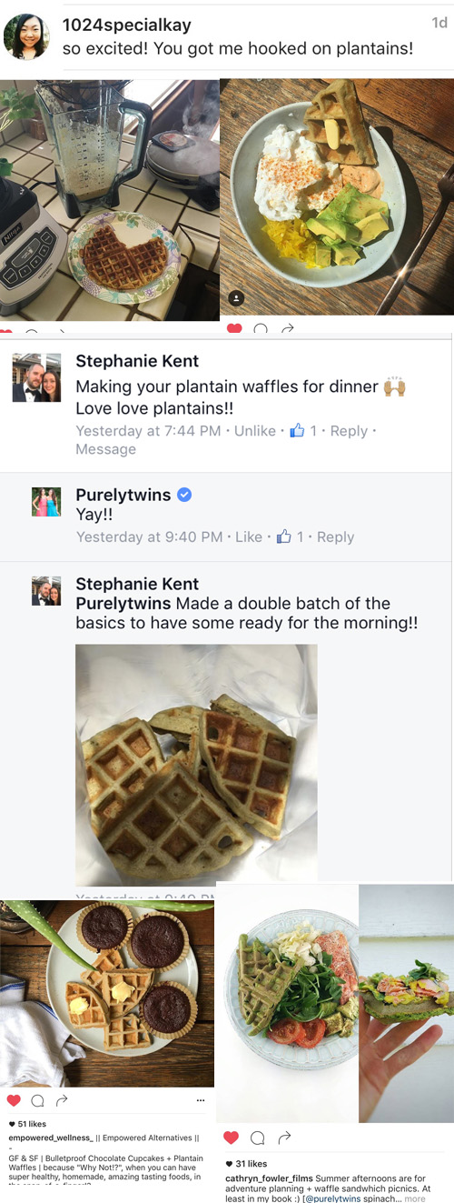 Purely Twins Plantain Waffle recipe love!