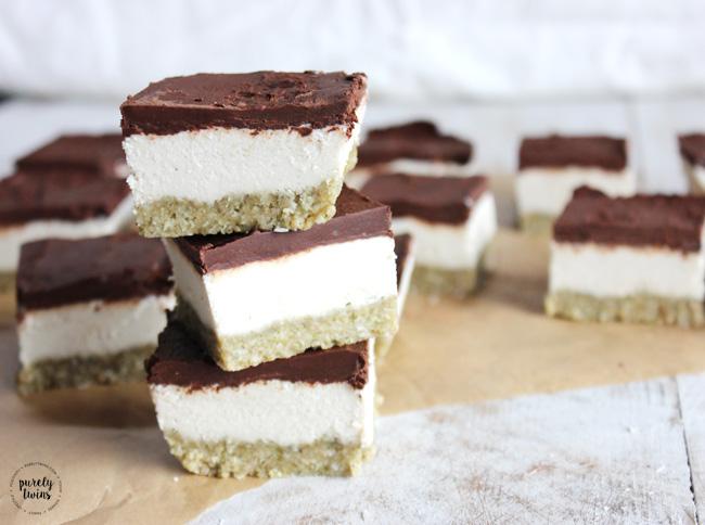 Raw coconut cream chocolate bliss bars (nut-free)