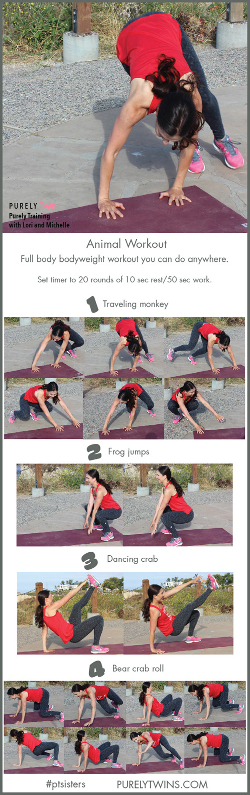 Are you feeling wild? It's time to sculpt your body in this animal inspired workout. No equipment is needed and it will only take you 20 minutes. Share this with your friends and do it with me.