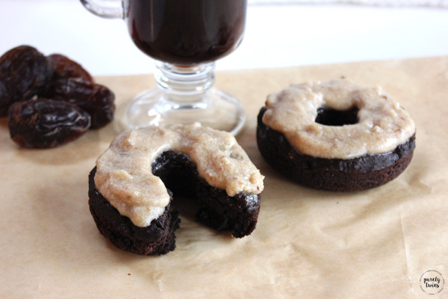 Salted Caramel Mocha Protein Donuts. Paleo & Vegan friendly.