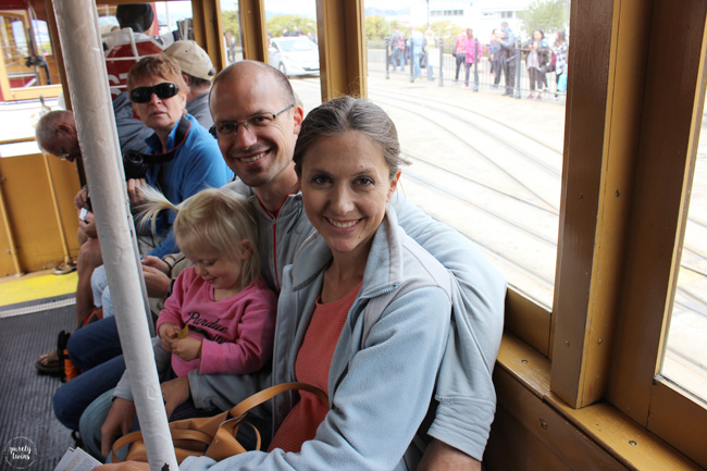 Family cable car ride
