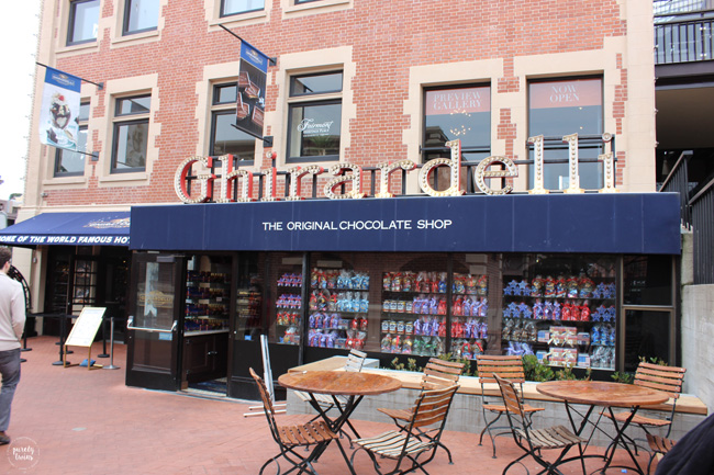 Ghirardelli ice cream-chocolate shop San Francisco
