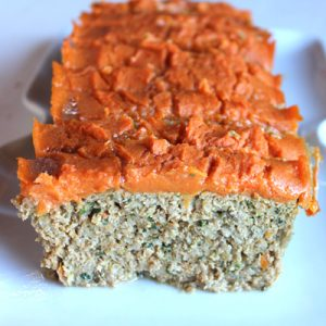 Tomato-Free Ketchup Plantain Meatloaf (Paleo, nut-free)