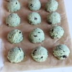 Mint chip coconut protein cookie bites