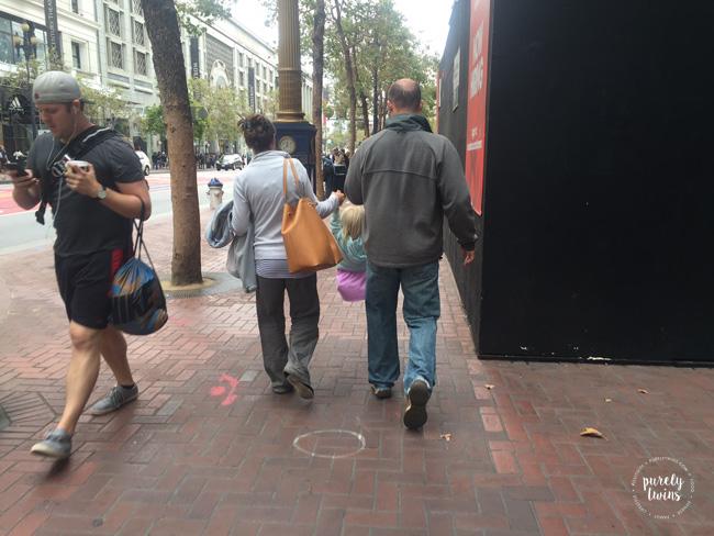 Walking around San Francisco.