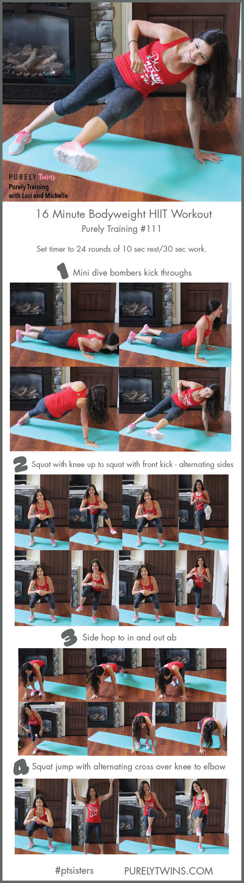 One of the most issues we hear is majority of women can't seem to find the time to fit a workout in? We have the PERFECT solution for you. 16 minute bodyweight HIIT home workout for the busy ladies looking to tone their full body. Looking for a fun uplifting working out to make you feel unstoppable? CLICK to get the follow along video You'll feel more inspired, motivated and focused. Are you in?