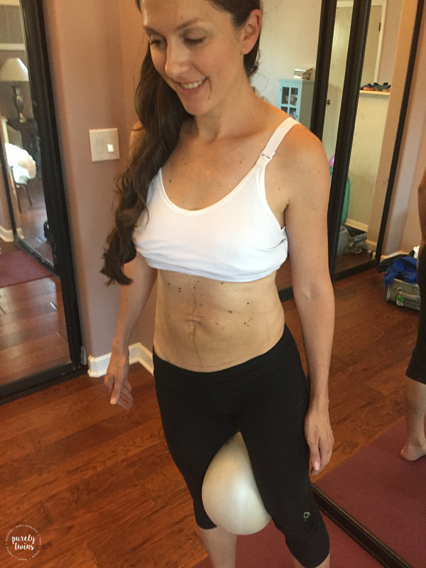 Postpartum belly. Doing core work to heal diastasis.