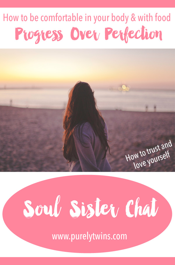 How to be comfortable in your body and with food. Learning to choose progress over perfection. Soul sister chat with Ali from RetiFit. Come join us talking about food, fitness and more.