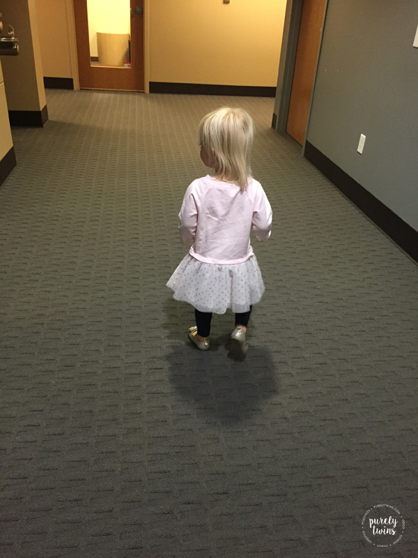 Love watching my 2 year old walking around in her new dress and shoes