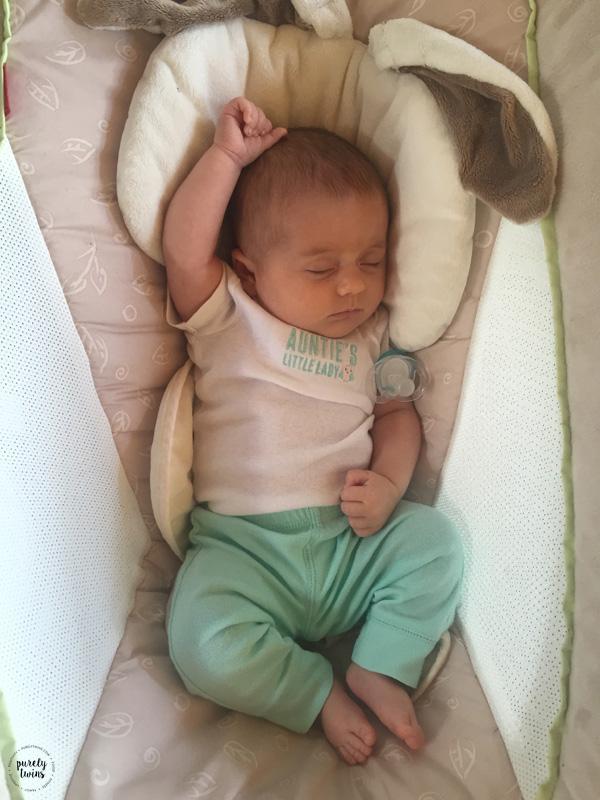 7 week old baby girl sleeping