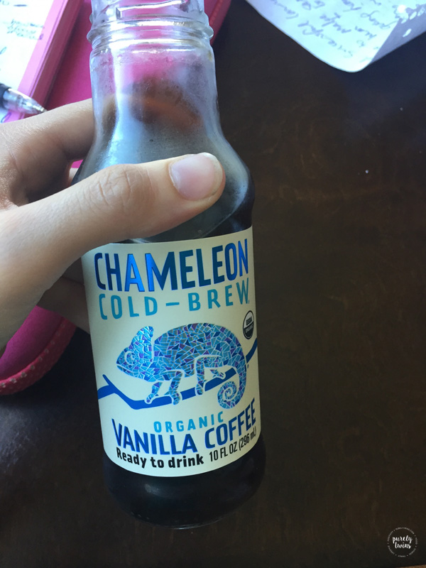 Chameleon Cold Brew vanilla coffee.