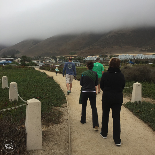 Family walk at Dino park in Pismo Beach