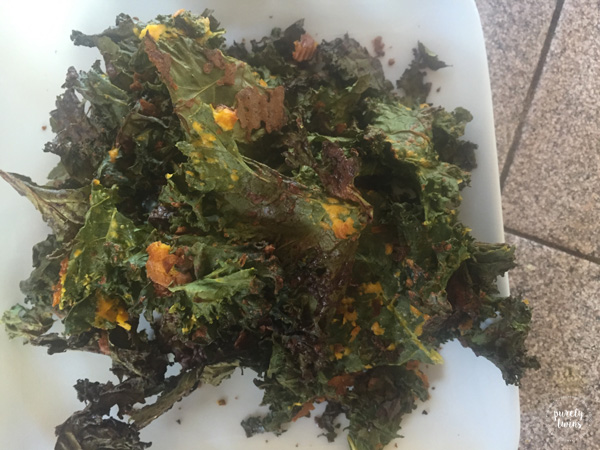 Homemade Kale chips.