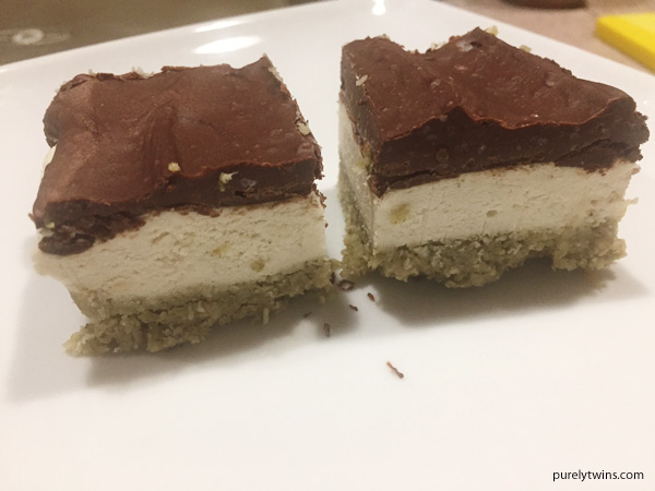 Raw coconut bliss dessert bar. Paleo.