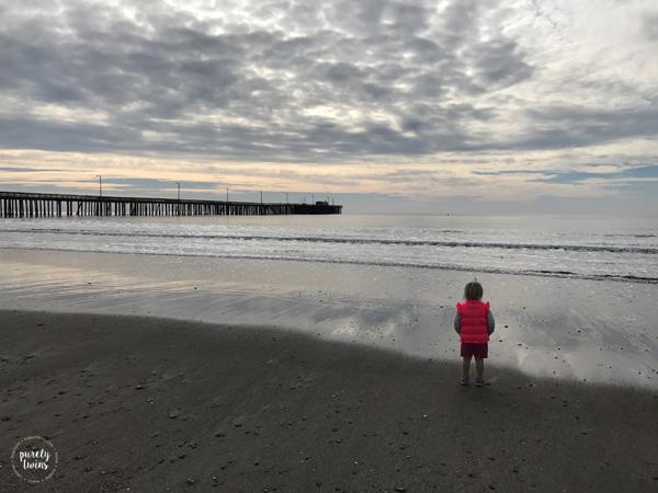 Cold morning at Avila Beach CA