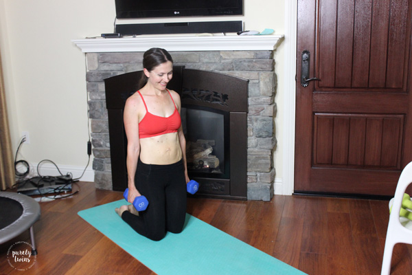 Fit Mom postpartum fitness journey to heal diastasis after baby 2