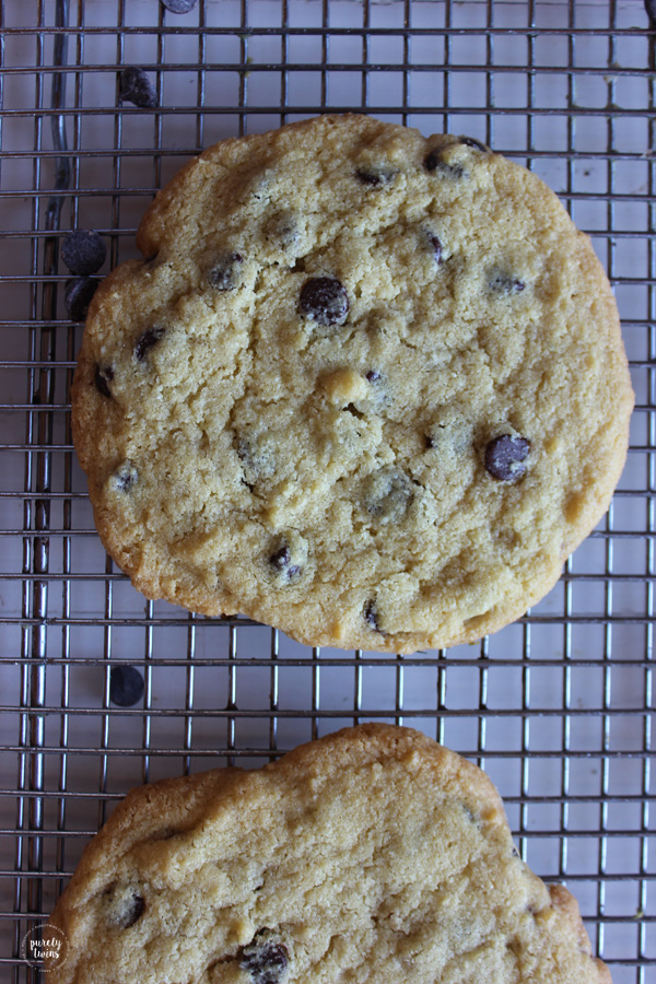 Gluten-free chocolate chip cookies made in 8 minutes.