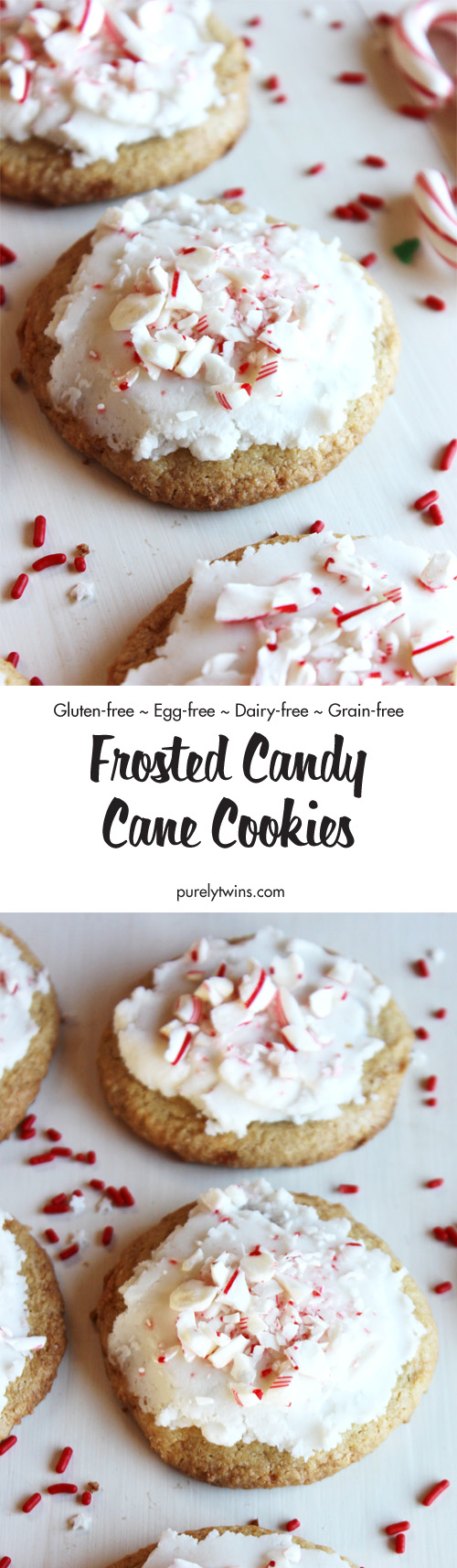 recipe for gluten free egg free frosted candy cane cookies a simple christmas - Simple Christmas Cookies