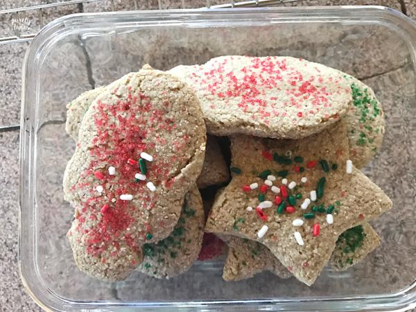 Gluten-free grain-free egg-free plantain sugar cookies for Christmas