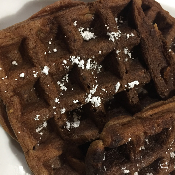 Plantain gingerbread waffles