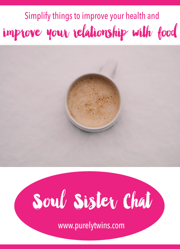 How to simplify and improve your relationship with food. In this soul sister chat Keira shares a lot of good insights to rebalancing your relationship with food and improve your health. A lot of surprises topics from self help and some tough love. It's time to simply transform by doing less, reading less and learning to trust what is best for you. Something you won't find in a book or article.