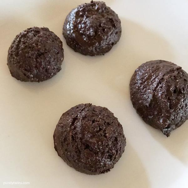 Chocolate chia tahini protein balls