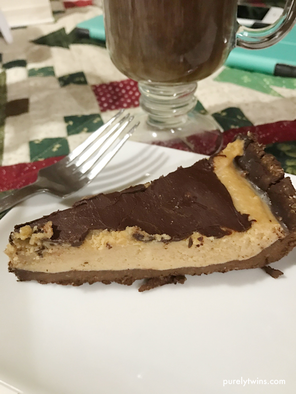 No bake peanut butter pie and irish coffees.