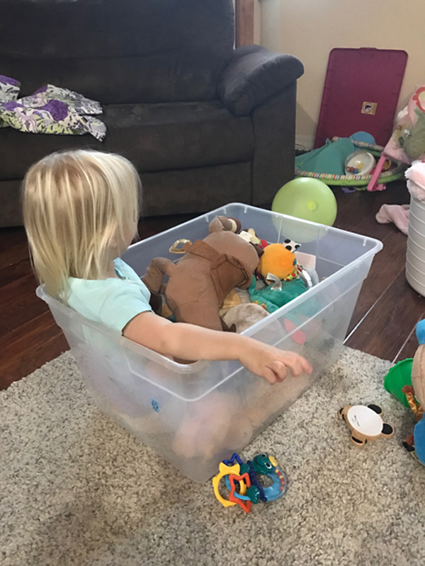 Playtime with toddler