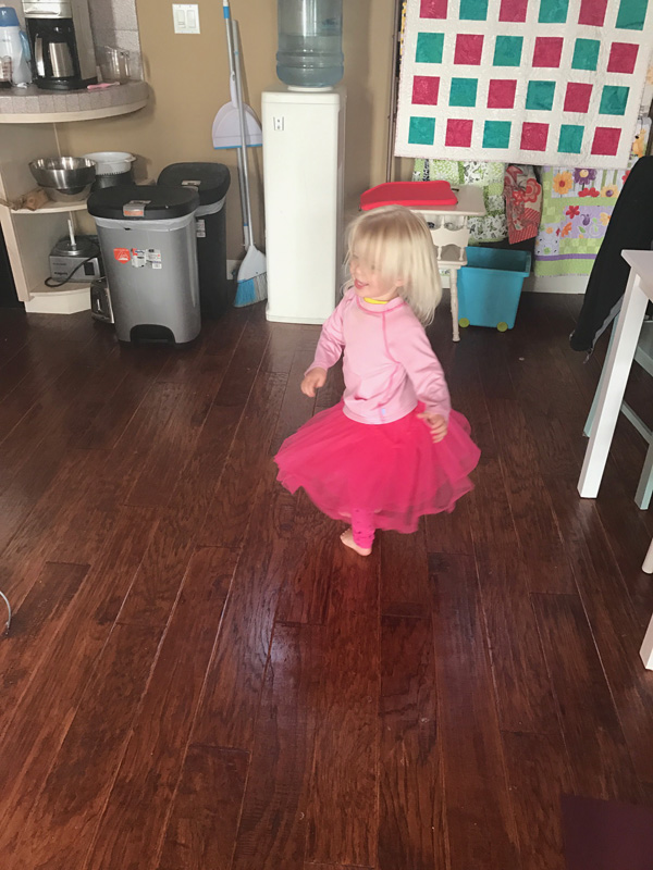 Toddler girl dancing