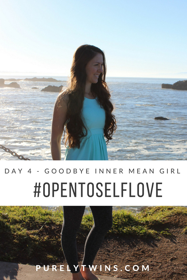 Day 4 - Goodbye Inner Mean Girl. #opentoselflove Are you ready to go of the old disempowering thoughts to allow new positive thoughts in so you can start living the life you dream of? We thought so. You're a PT sister after all. ;) Click to learn how to Re-Write Old Stories To Get Rid Of That Inner Mean Girl To Create The Life You Truly Want