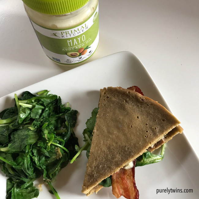 best paleo gluten-free-lunch plantain bread with primal kitchen paleo mayo with bacon