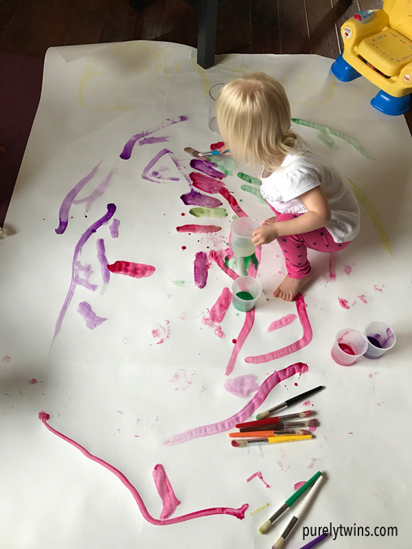 2 year old who loves to paint.