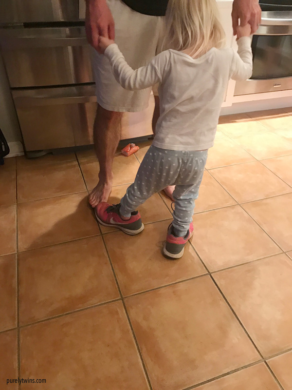 Madison dancing with her dad.