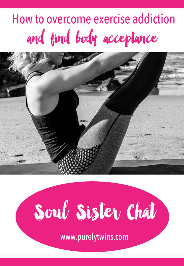 Today's soul sister chat is a juicy one as we talk about the dark side of exercise with Amanda Gyuran. Learn how to overcome exercise addiction and find body acceptance. Being addicting exercise is a real thing and can cause a lot of damage to your health, affect your relationships and create disordered eating habits. We discuss the mindset around how much workout to how much you eat. Share this with your girl friends so we all can banish body bashing and feel love for ourselves.