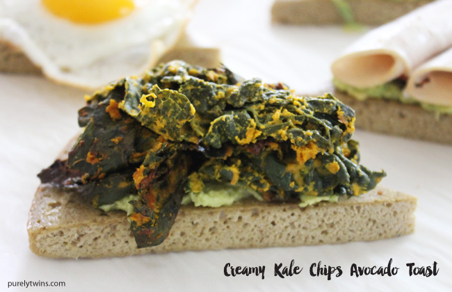 Kale chips avocado toast. Gluten-free Grain-free recipe.