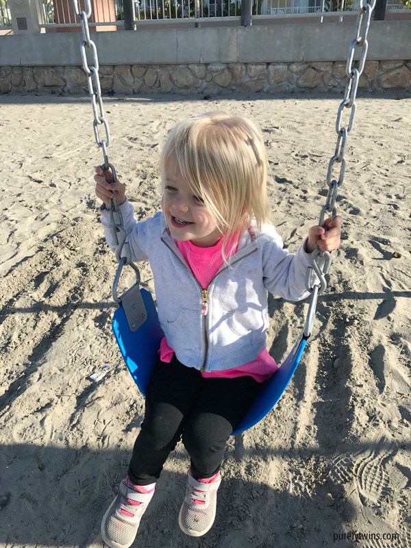Swing set on California beaches