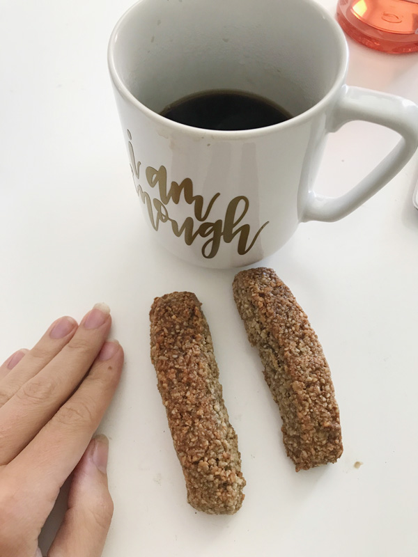Gluten free vegan cashew biscotti from purely classic cookbook