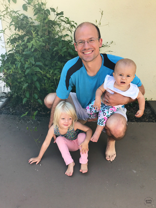 Father's Day pic - dad with this two girls