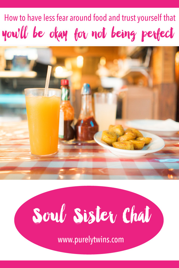 NEW soul sister chat with Jen. We chat about how to have less fear around food and trust yourself that you'll be okay for not being perfect. Changing your mindset around food will help form a positive relationship with food and your body. How to end perfect diet mentality relax around food. SHARE this with your girlfriends.
