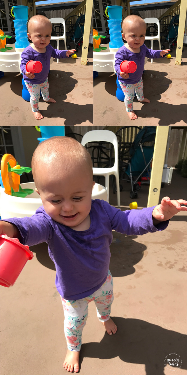 10 month old girl learning to walk