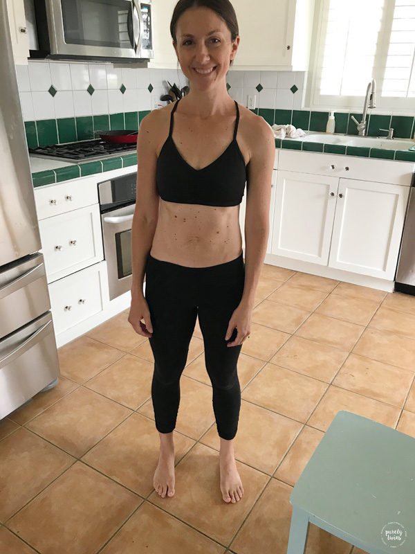 10 months postpartum mom with diastasis journey