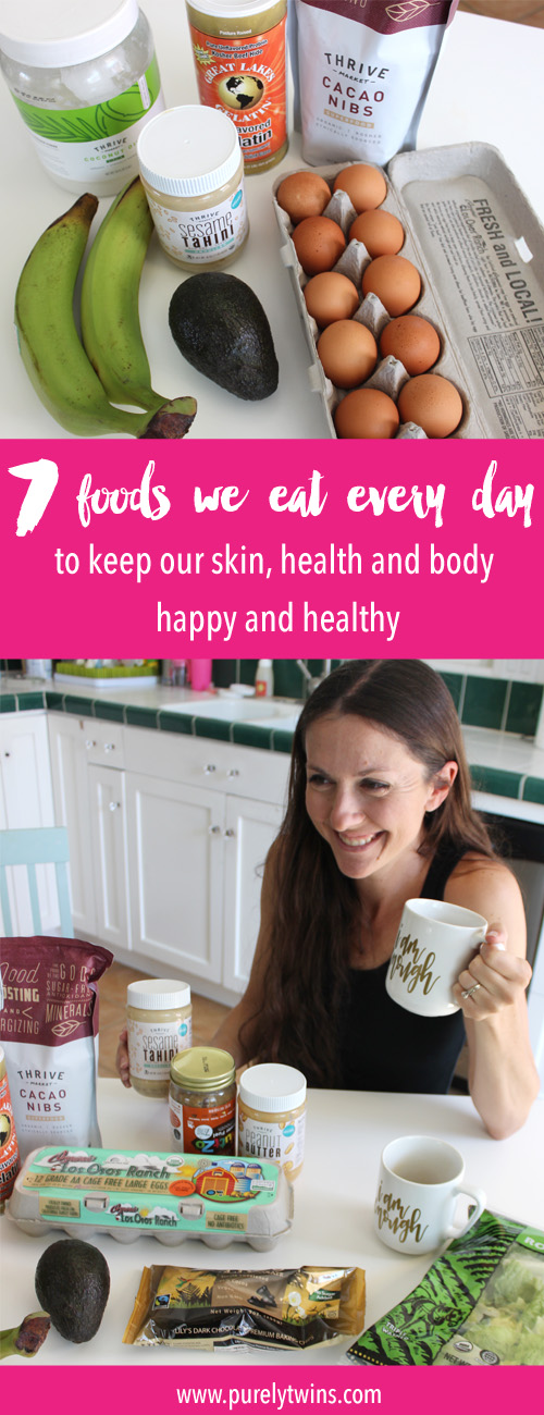 7 foods we eat every day to keep our skin, health and body healthy and happy. We used to be girls who obsessed over what we, where we eating clean, we were bad if we ate chocolate, but now we have a more happy balanced approach to food. We don't binge or restrict ourselves but focus on the foods that work for us. We share this to inspire you to start loving food again and yourself.