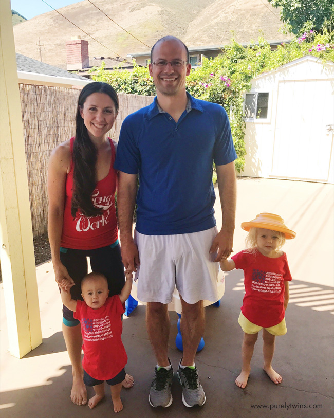 family picture of july 4th celebration