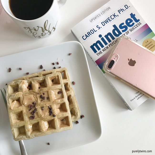 girl boss mode - Mindset book with coffee and plantain waffles