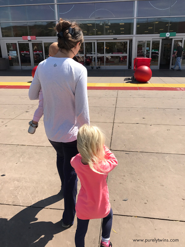 Mom target trip with her daughters