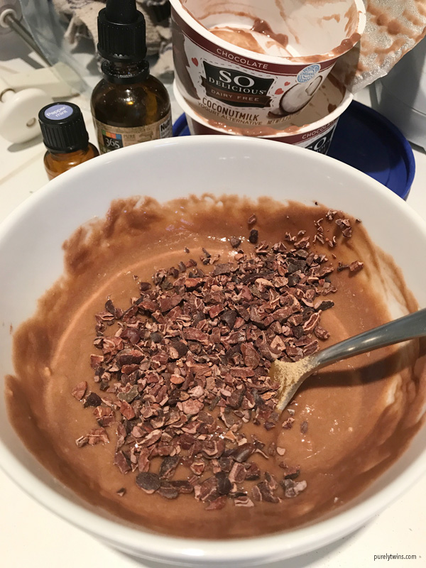 chocolate coconut yogurt protein mush