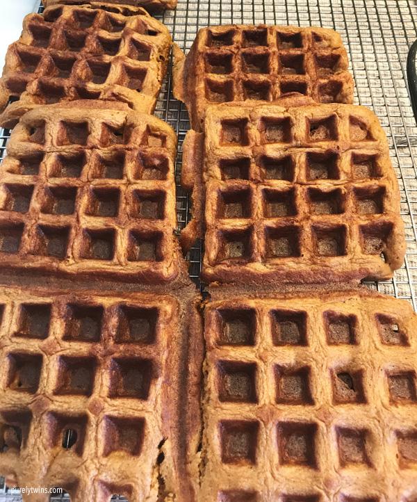 gluten free paleo gingerbread waffles