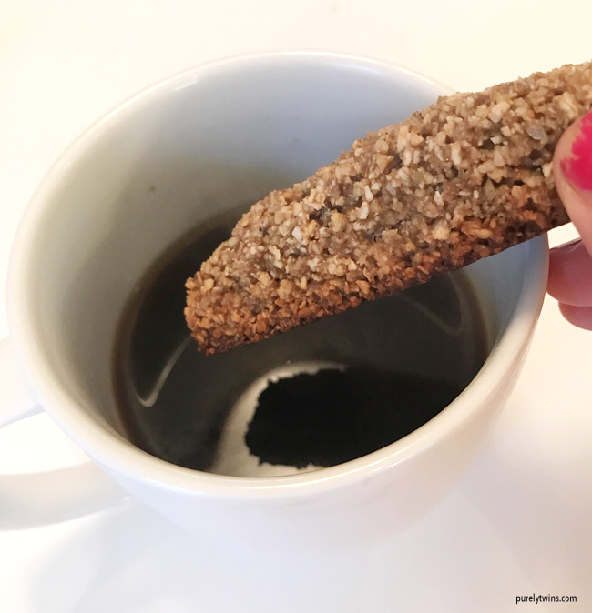 gluten free vegan biscotti with coffee