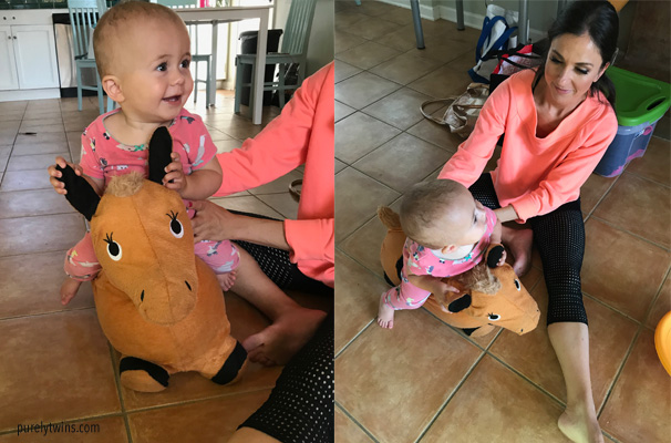 lyla on horse toy