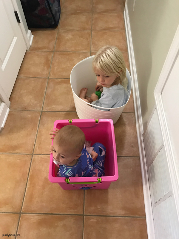 sisters playing together